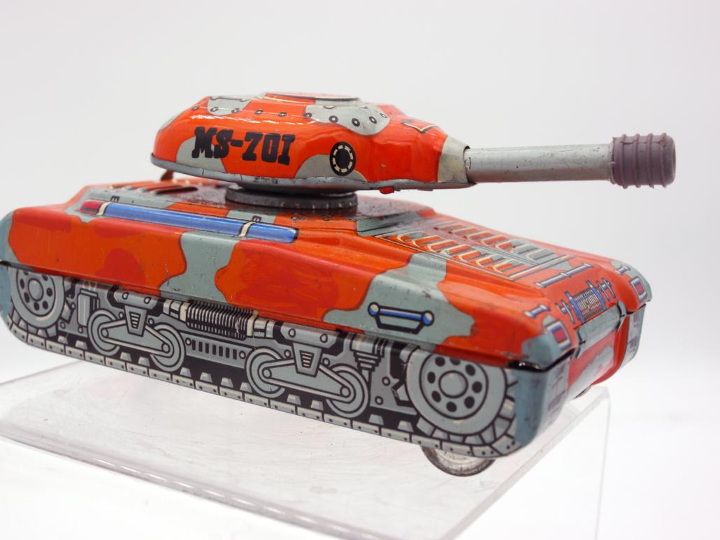 roter MS-701 Panzer Blechspielzeug