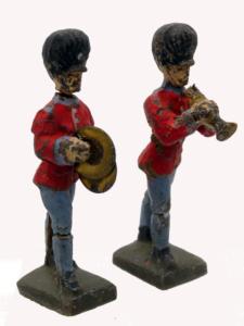 Lineol Spielzeug englische Soldaten Kapelle
